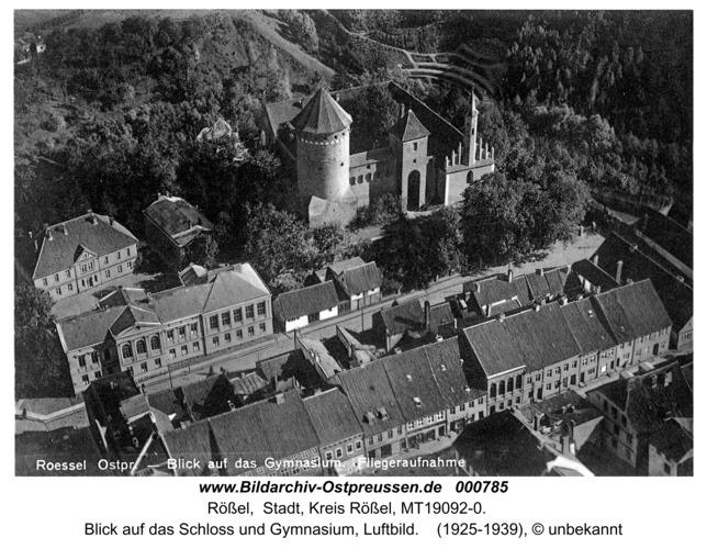 Rößel, Blick auf das Gymnasium, Luftbild