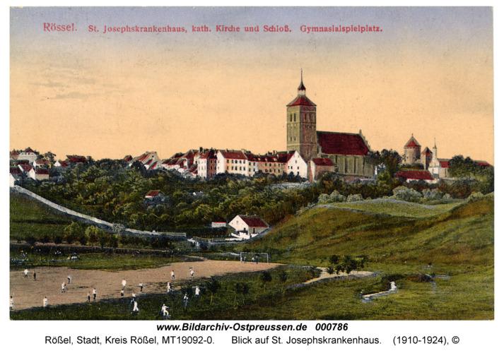 Rößel, Blick auf St. Josephskrankenhaus