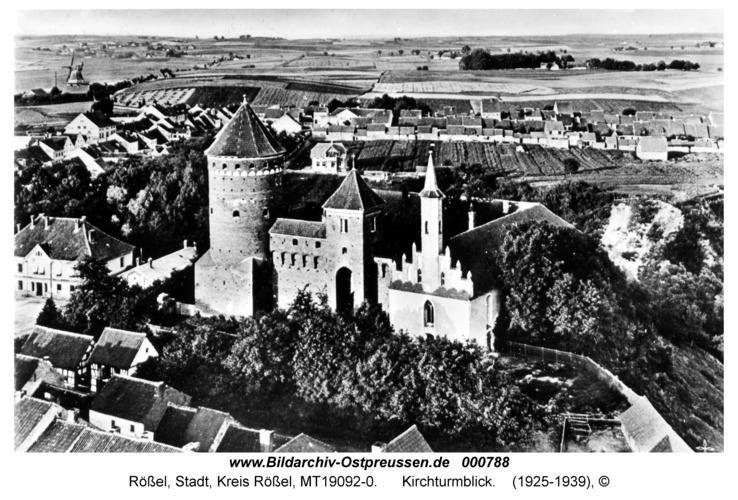 Rößel, Kirchturmblick