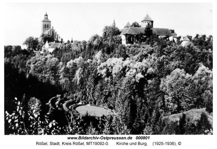 Rößel, Kirche und Burg