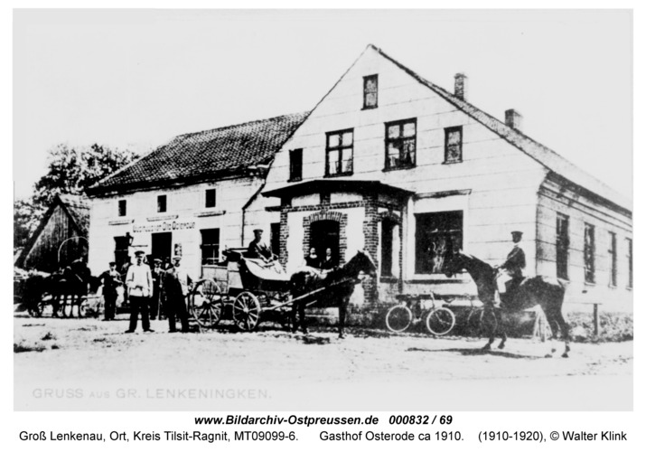 Groß Lenkenau, Gasthof Osterode ca 1910