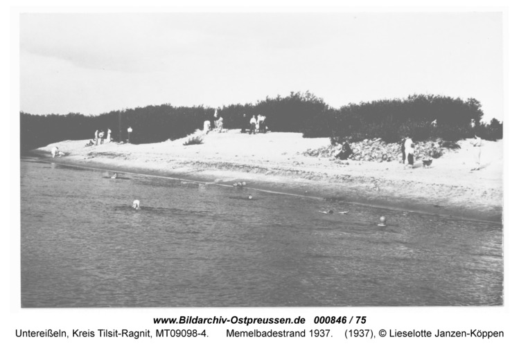 Unter-Eisseln, Memelbadestrand 1937