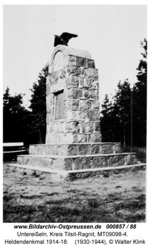 Unter-Eisseln, Heldendenkmal 1914-18