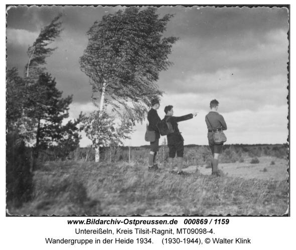 Unter-Eisseln, Wandergruppe in der Heide 1934