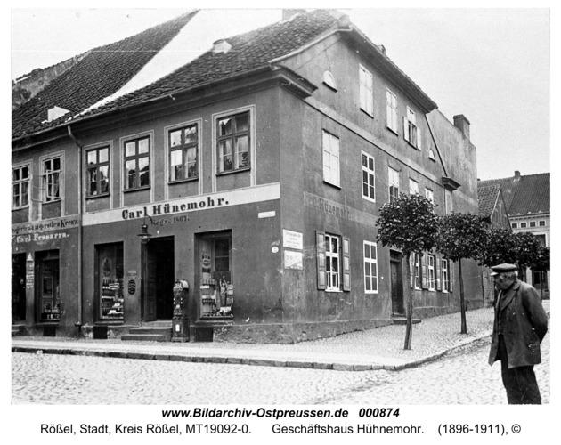 Rößel, Geschäftshaus Hühnemohr