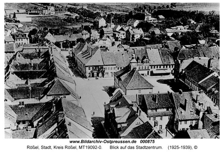 Rößel, Blick auf das Stadtzentrum