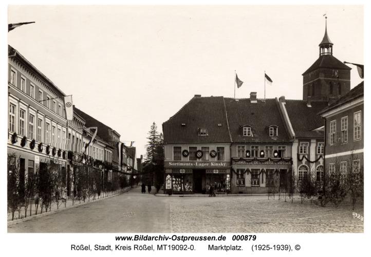 Rößel, Marktplatz