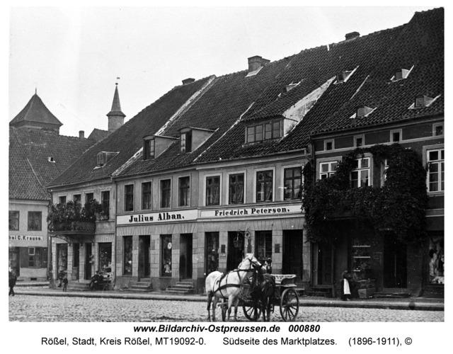 Rößel, Südseite des Marktplatzes