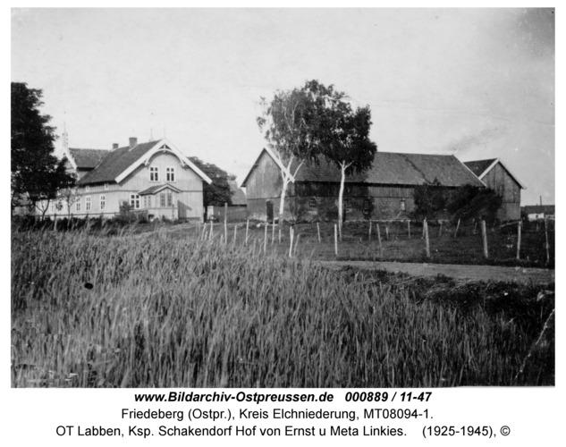 Friedeberg, OT Labben, Ksp. Schakendorf Hof von Ernst u Meta Linkies