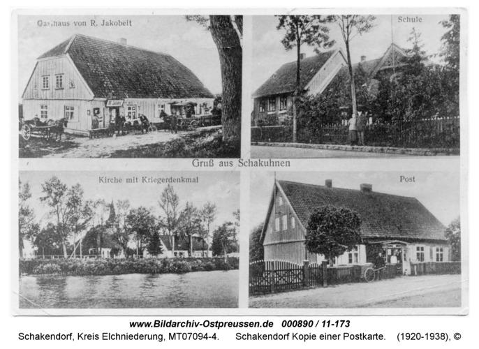 Schakendorf, Kopie einer Postkarte