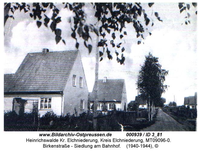 Heinrichswalde, Birkenstraße - Siedlung am Bahnhof