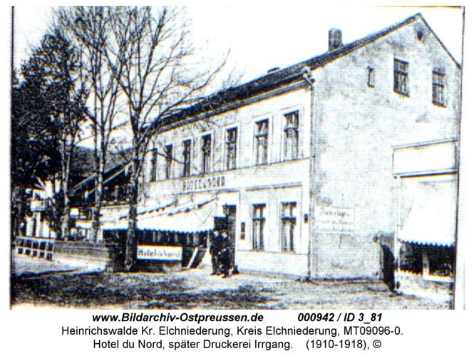 Heinrichswalde, Hotel du Nord, später Druckerei Irrgang