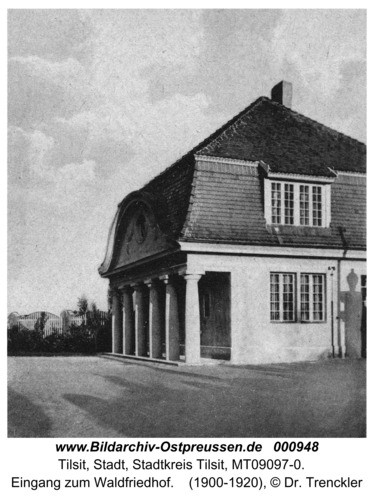 Tilsit, Eingang zum Waldfriedhof