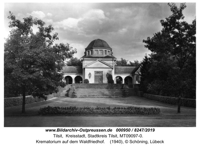 Tilsit, Krematorium auf dem Waldfriedhof