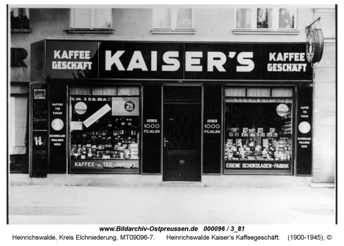 Heinrichswalde, Kaiser's Kaffeegeschäft