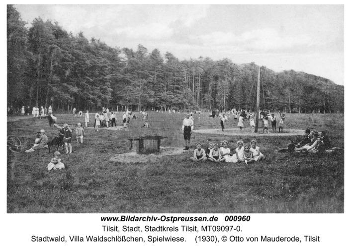 Tilsit, Stadtwald, Villa Waldschlößchen, Spielwiese