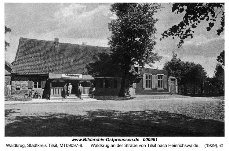 Waldkrug Stadtkr. Tilsit, Waldkrug an der Straße von Tilsit nach Heinrichswalde