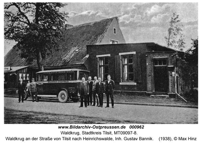 Waldkrug Stadtkr. Tilsit, Waldkrug an der Straße von Tilsit nach Heinrichswalde, Inh. Gustav Bannik