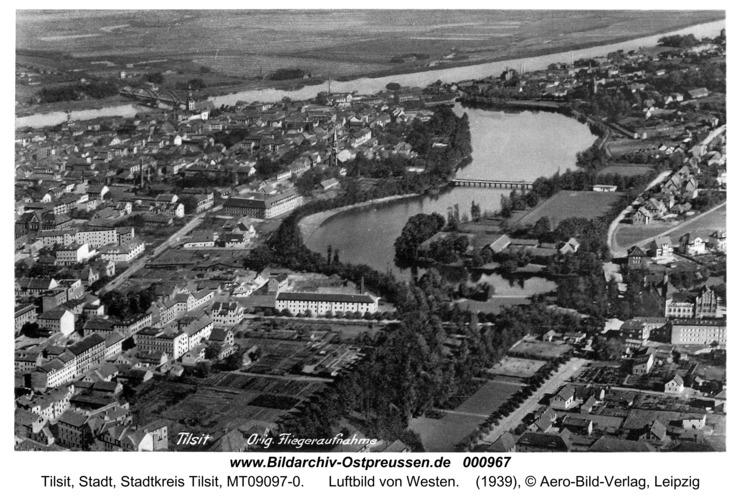Tilsit, Luftbild von Westen