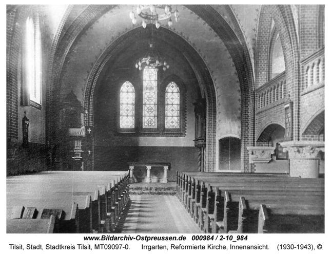 Tilsit, Irrgarten, Reformierte Kirche, Innenansicht
