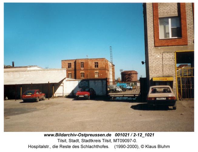 Tilsit, Hospitalstr., die Reste des Schlachthofes