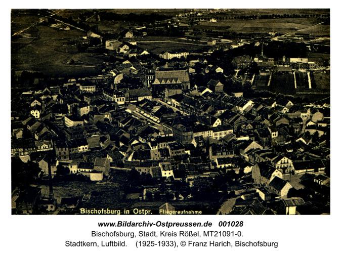 Bischofsburg,  Stadtkern, Luftbild