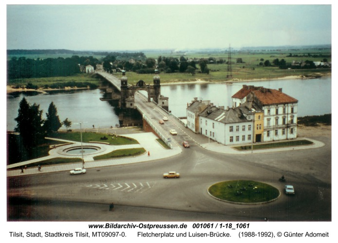 Tilsit, Fletcherplatz und Luisen-Brücke