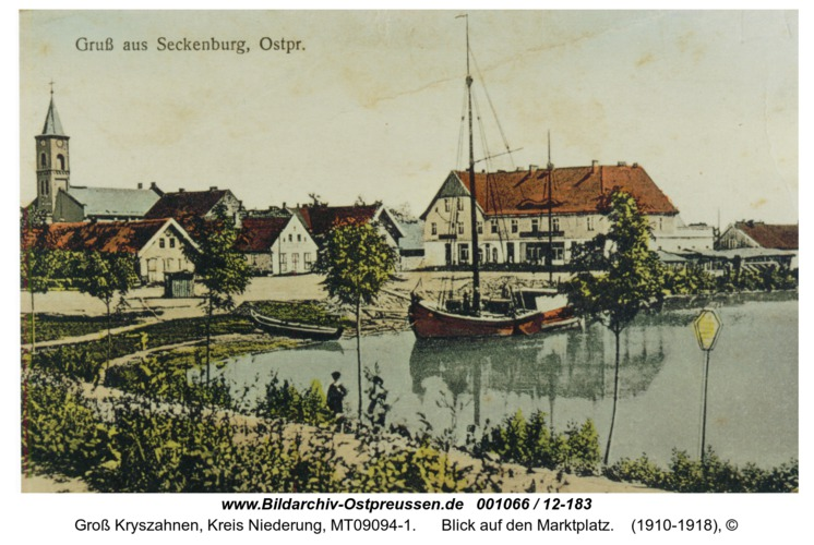 Seckenburg, Blick auf den Marktplatz