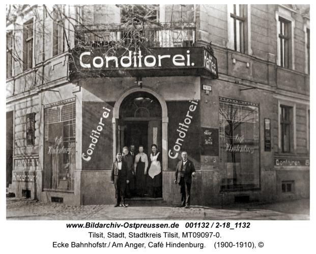 Tilsit, Ecke Bahnhofstr./ Am Anger, Café Hindenburg
