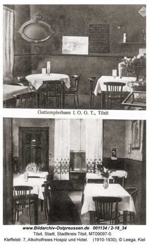 Tilsit, Kleffelstr. 7, Alkoholfreies Hospiz und Hotel