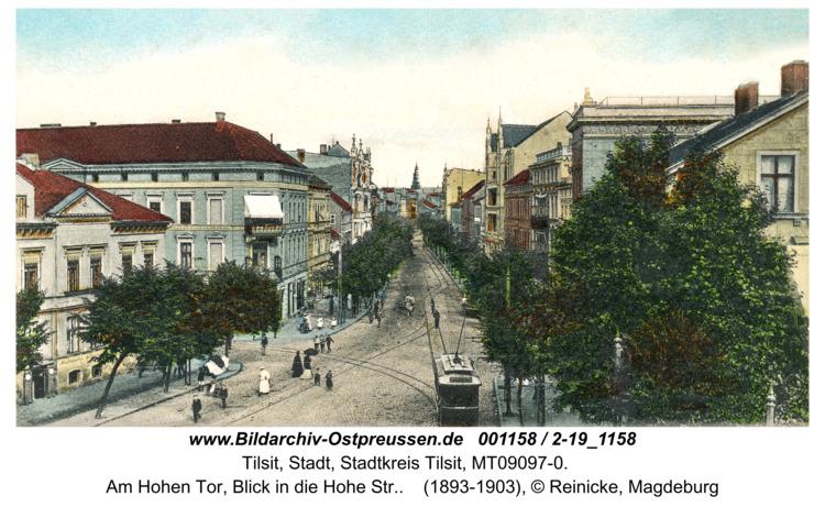 Tilsit, Am Hohen Tor, Blick in die Hohe Str.