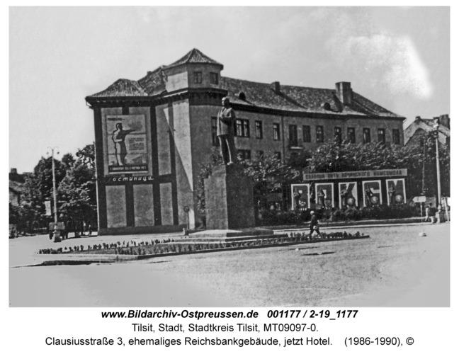 Tilsit, Clausiusstraße 3, ehemaliges Reichsbankgebäude, jetzt Hotel