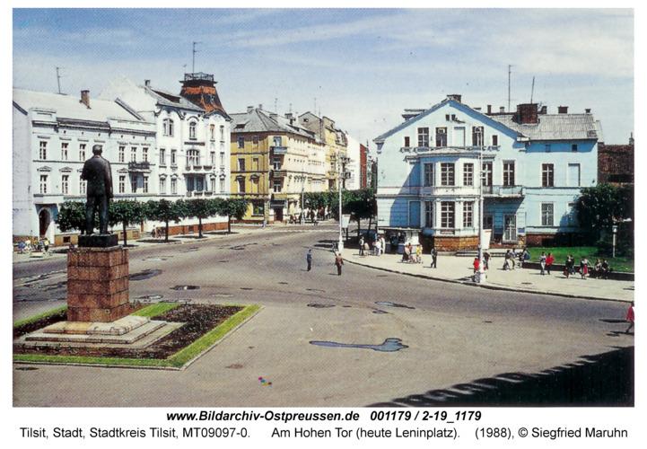 Tilsit, Am Hohen Tor (heute Leninplatz)