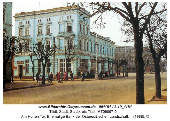 Tilsit, Am Hohen Tor, Ehemalige Bank der Ostpreußischen Landschaft