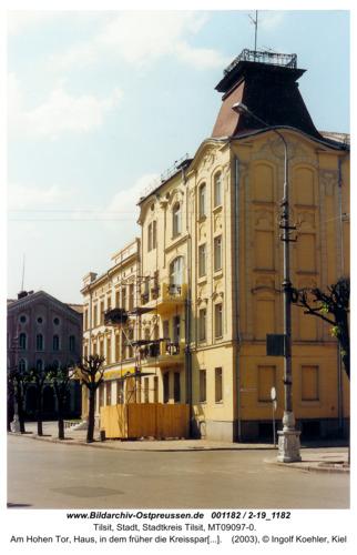 Tilsit, Am Hohen Tor, Haus, in dem früher die Kreissparkasse Tilsit-Ragnit war