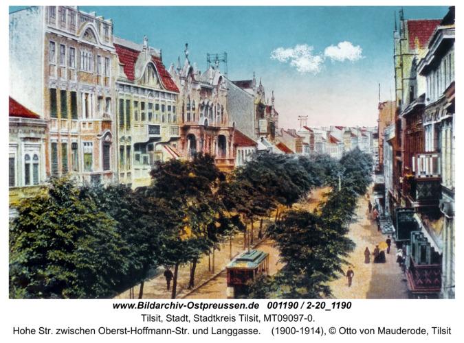 Tilsit, Hohe Str. zwischen Oberst-Hoffmann-Str. und Langgasse