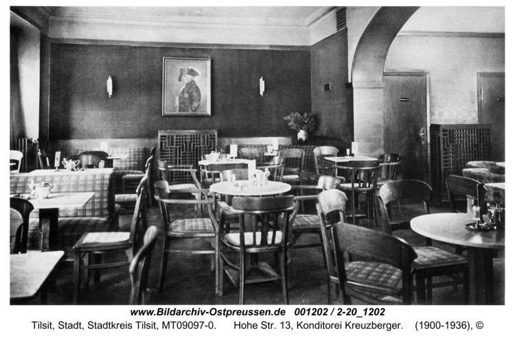 Tilsit, Hohe Str. 13, Konditorei Kreuzberger