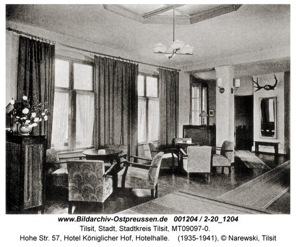 Tilsit, Hohe Str. 57, Hotel Königlicher Hof, Hotelhalle