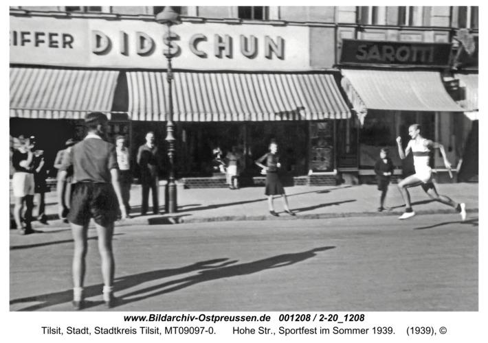 Tilsit, Hohe Str., Sportfest im Sommer 1939