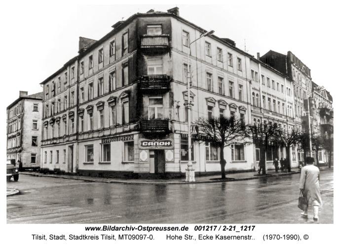 Tilsit, Hohe Str., Ecke Kasernenstr.