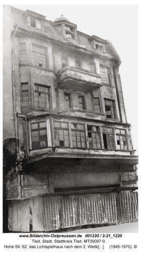 Tilsit, Hohe Str. 62, das Lichtspielhaus nach dem 2. Weltkrieg