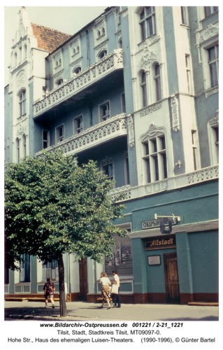 Tilsit, Hohe Str., Haus des ehemaligen Luisen-Theaters