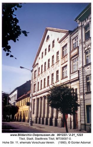 Tilsit, Hohe Str. 11, ehemals Vorschuss-Verein