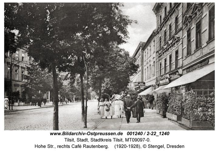 Tilsit, Hohe Str., rechts Café Rautenberg