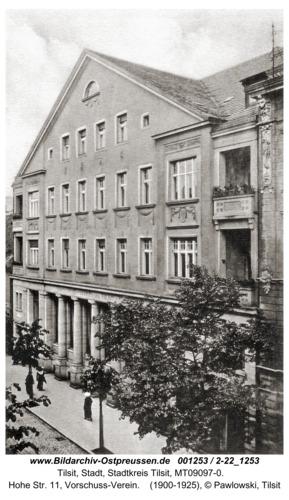 Tilsit, Hohe Str. 11, Vorschuss-Verein