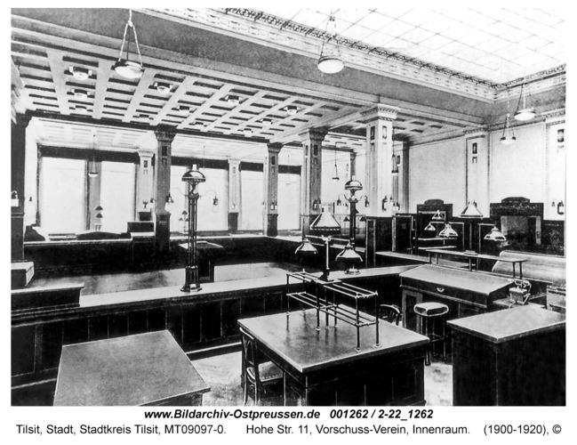 Tilsit, Hohe Str. 11, Vorschuss-Verein, Innenraum