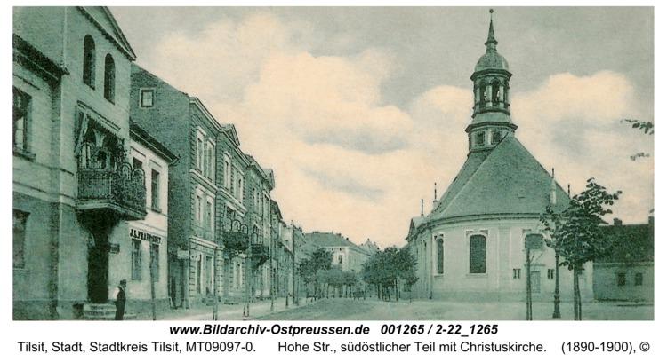 Tilsit, Hohe Str., südöstlicher Teil mit Christuskirche
