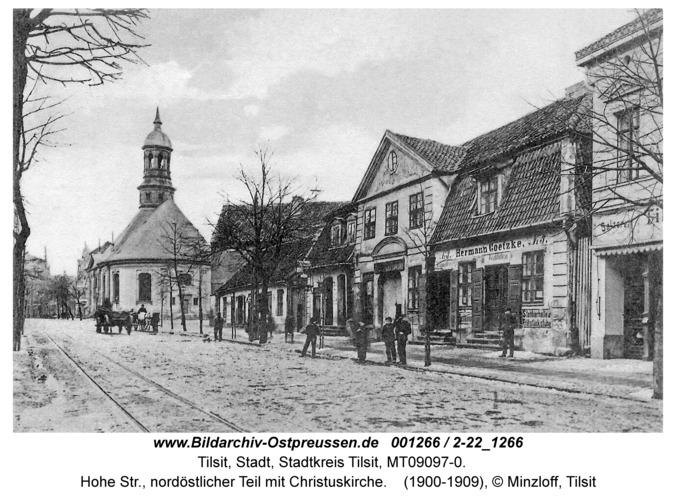 Tilsit, Hohe Str., nordöstlicher Teil mit Christuskirche