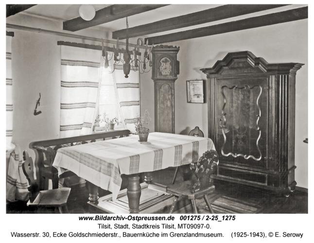 Tilsit, Wasserstr. 30, Ecke Goldschmiederstr., Bauernküche im Grenzlandmuseum