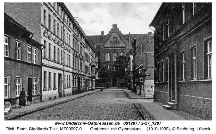 Tilsit, Grabenstr. mit Gymnasium